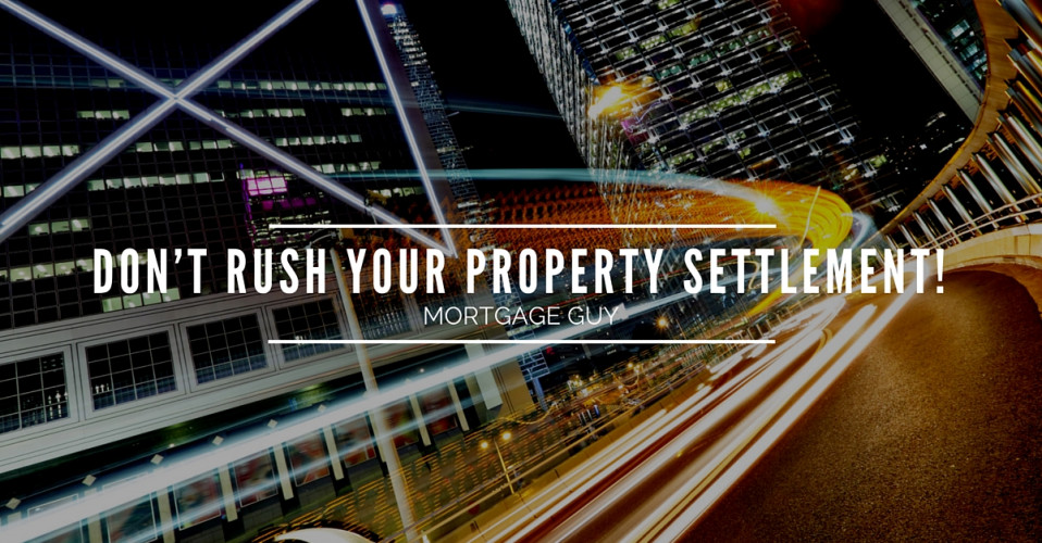 Property settlement tips for first homebuyers